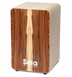 CaSela Cajon kit Satin Nut finished