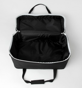 Sela Cajon Bag Black se005 open empty